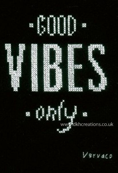 Good Vibes Cross Stitch Kit